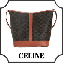 CELINE Triomphe Casual Style Calfskin Lambskin Blended Fabrics A4