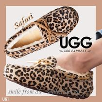 Leopard Patterns Casual Style Loafer Pumps & Mules