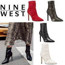 Nine West Casual Style Plain Leather Pin Heels Ankle & Booties Boots