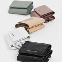 Charles&Keith Unisex Faux Fur Plain Other Animal Patterns Folding Wallets