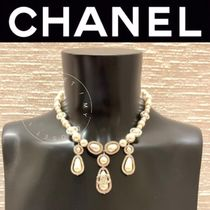 CHANEL ICON Costume Jewelry Blended Fabrics Handmade Party Style Silver