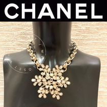 CHANEL ICON Costume Jewelry Blended Fabrics Chain Handmade Party Style