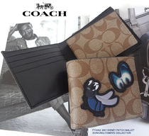 Coach Leather PVC Clothing Folding Wallets