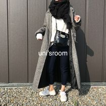 Casual Style Wool Long Oversized Elegant Style Chester Coats