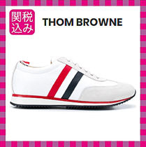 THOM BROWNE Suede Leather Sneakers