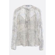 RED VALENTINO Star Casual Style Silk Long Sleeves Medium Shirts & Blouses