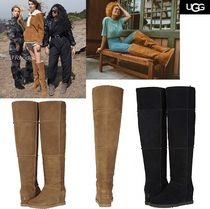 UGG Australia Casual Style Plain Leather Over-the-Knee Boots