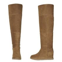 UGG Australia CLASSIC FEMME Casual Style Plain Leather Over-the-Knee Boots