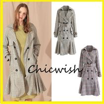 Chicwish Chicwish Classical check patterned Double Coat Dress