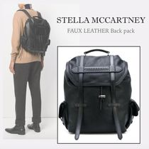 Stella McCartney Faux Fur Plain Backpacks