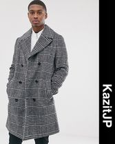 ASOS Other Check Patterns Wool Coats