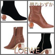 LOEWE Leather Elegant Style Ankle & Booties Boots
