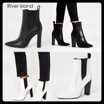 River Island Casual Style Plain Leather Chelsea Boots Elegant Style