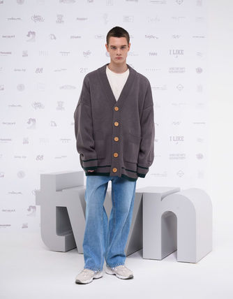 TWN Cardigans Pullovers Unisex Street Style Logos on the Sleeves Cardigans 6