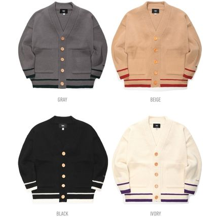 TWN Cardigans Pullovers Unisex Street Style Logos on the Sleeves Logo 7