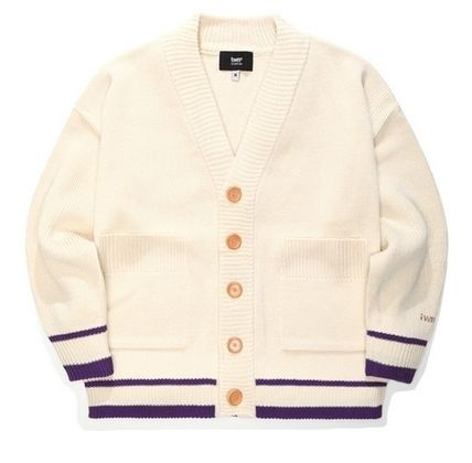 TWN Cardigans Pullovers Unisex Street Style Logos on the Sleeves Logo 2