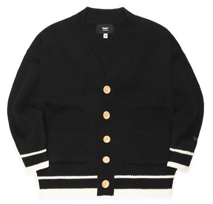TWN Cardigans Pullovers Unisex Street Style Logos on the Sleeves Logo 3