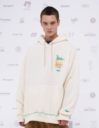 TWN Hoodies Pullovers Unisex Street Style Logos on the Sleeves Hoodies 12
