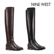 Nine West Leather Flat Boots