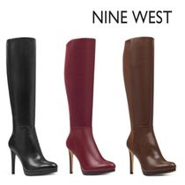 Nine West Leather High Heel Boots