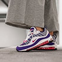 Nike AIR MAX 98 Lace-up Casual Style Unisex Street Style Plain Logo