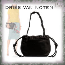 Dries Van Noten Nylon 2WAY Plain Leather Party Style Purses Elegant Style