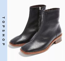 TOPSHOP Casual Style Faux Fur Ankle & Booties Boots