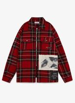 Palm Angels Other Check Patterns Wool Street Style Long Sleeves Shirts