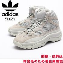 adidas YEEZY Unisex Street Style Plain Logo Low-Top Sneakers