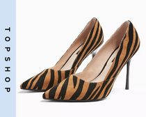 TOPSHOP Casual Style Other Animal Patterns High Heel Pumps & Mules