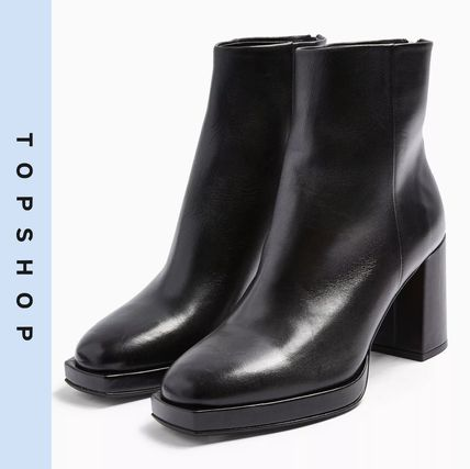Casual Style Leather Ankle & Booties Boots