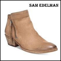 Sam Edelman Blended Fabrics Plain Leather Office Style Boots Boots