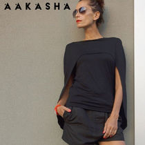 Aakasha Sleeveless Plain Handmade Tanks & Camisoles