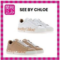 See by Chloe Casual Style Plain Leather Low-Top Sneakers