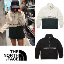 THE NORTH FACE Pullovers Blended Fabrics Street Style Long Sleeves Plain