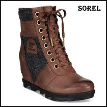 SOREL Casual Style Faux Fur Blended Fabrics Bi-color Office Style