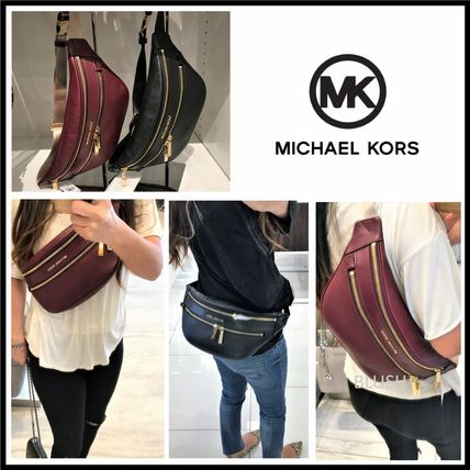 Casual Style 3WAY Plain Leather Shoulder Bags