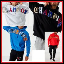 CHAMPION Pullovers Street Style Long Sleeves Cotton