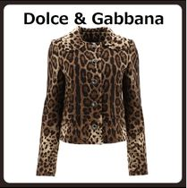 Dolce & Gabbana Short Leopard Patterns Casual Style Other Animal Patterns