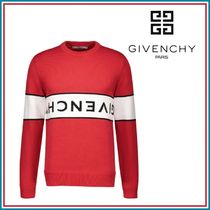 GIVENCHY Crew Neck Low Gauge Long Sleeves Plain Cotton