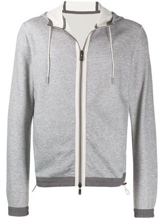 Ermenegildo Zegna Hoodies Long Sleeves Plain Hoodies