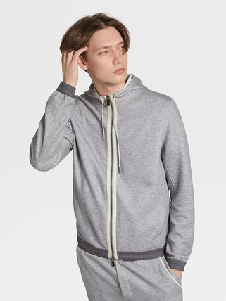 Ermenegildo Zegna Hoodies Long Sleeves Plain Hoodies 2