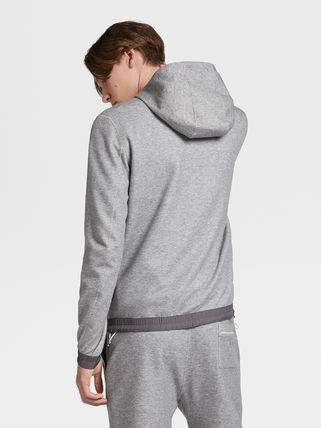 Ermenegildo Zegna Hoodies Long Sleeves Plain Hoodies 3