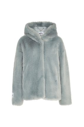 Casual Style Faux Fur Plain Medium Jackets