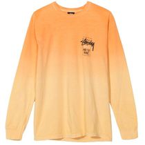 STUSSY Unisex Street Style Long Sleeves Cotton Long Sleeve T-shirt