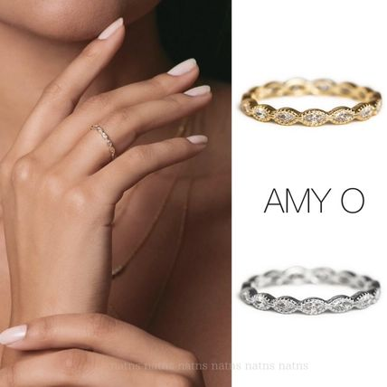 Casual Style Unisex Handmade Silver 14K Gold Rings