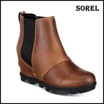 SOREL Casual Style Faux Fur Blended Fabrics Plain Office Style