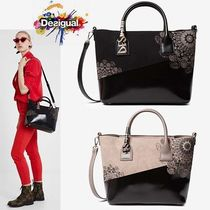 Desigual Faux Fur 2WAY Totes