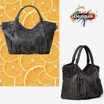 Desigual Faux Fur A4 2WAY Totes