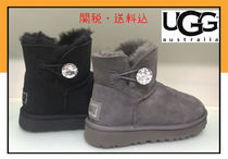 UGG Australia MINI BAILEY BUTTON Casual Style Suede Fur Flat Boots
